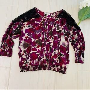 Dress Bark pink floral lace detail blouse top L